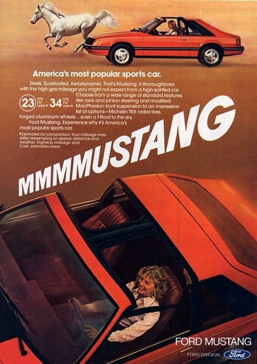 1981 Ford Mustang Ad: Americau0027s Most Popular Sports Car. Memories Of A  Simpler Time.