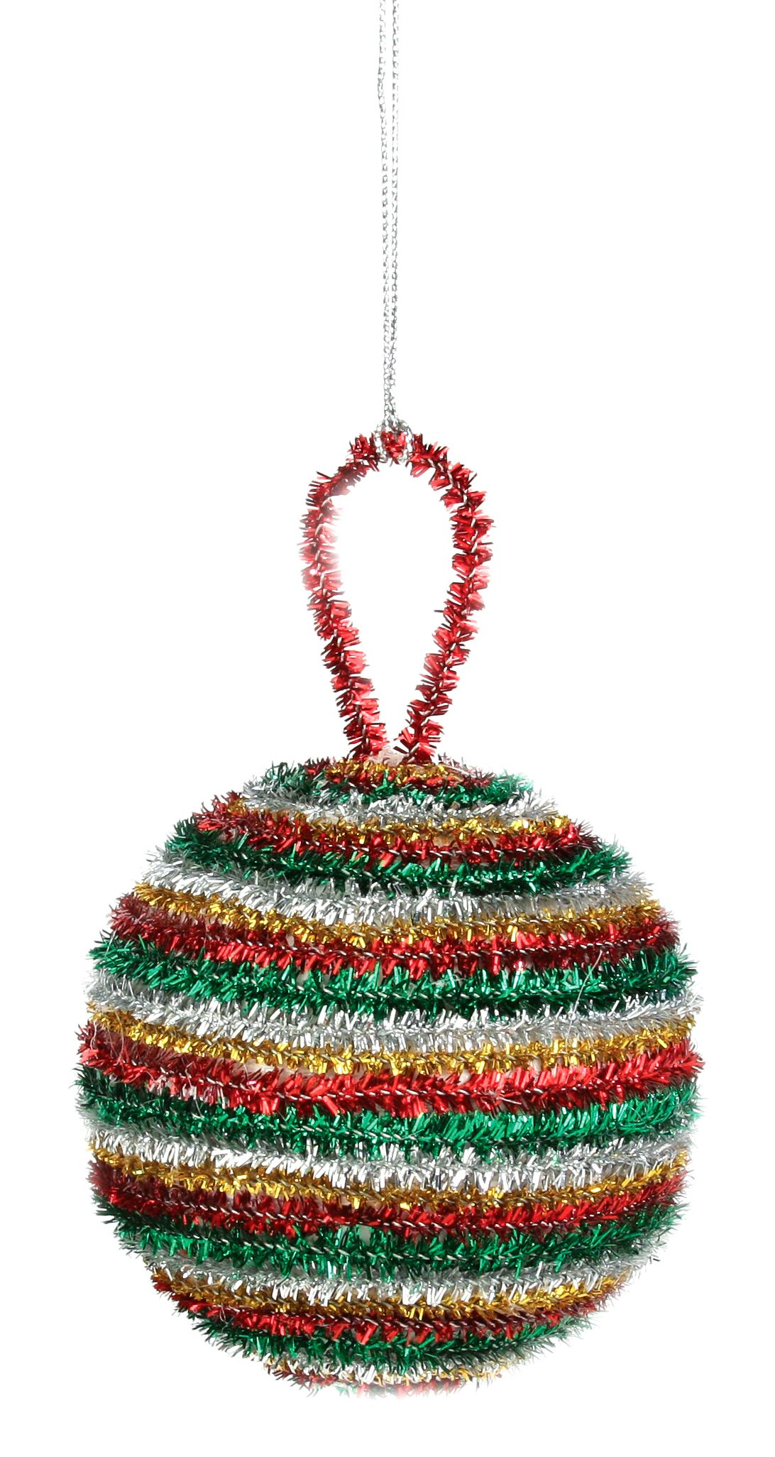 Nicole™ Crafts Tinsel Stem Ball Ornament #christmas #kids ...