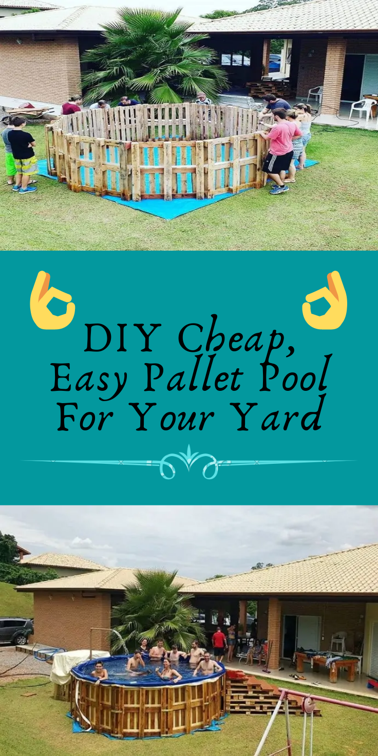 Photo of DIY Cheap, Easy Pallet Pool For Your Yard