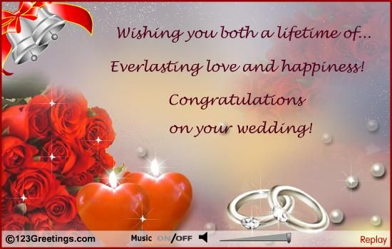 Wedding Congratulations Cards Free Wedding Congratulations Ecards 123 Greetings Wedding Wishes Quotes Happy Wedding Wishes Wedding Congratulations Wishes