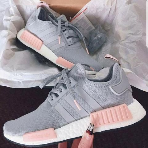 HOT ???? PINK & GREY Adidas Running NMD Shoes for Women