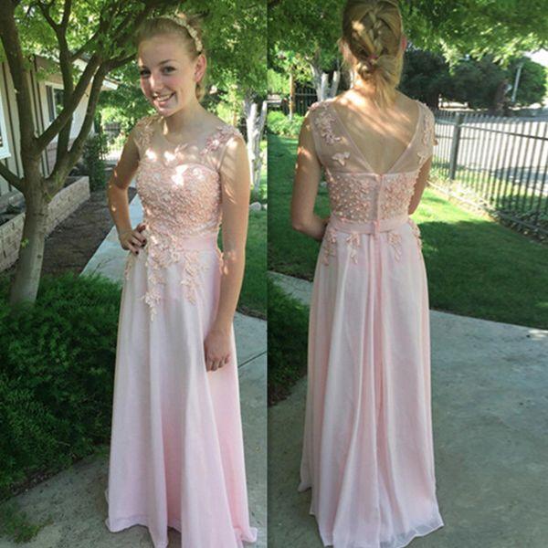 Perlen rosa Abendkleider.Der Link:https://goo.gl/YTsPFB | Dresses ...