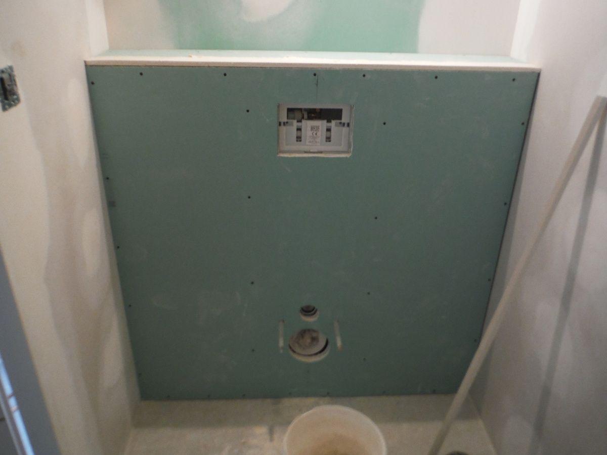 Faire Le Coffrage En Placo D Un Wc Suspendu Wc Suspendu Toilette Suspendu Idee Toilettes