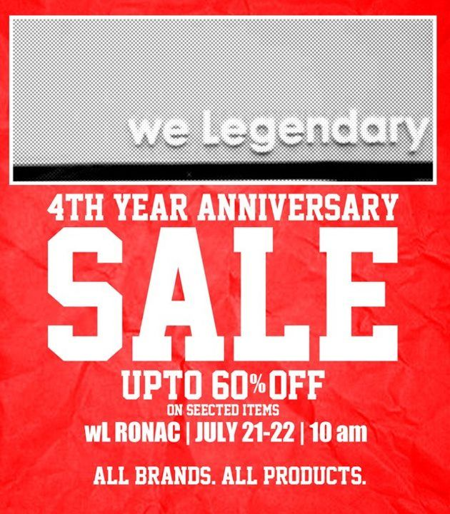 e4978760168e We Legendary 4th Anniversary Sale