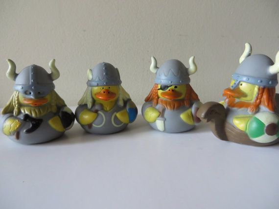 Viking Rubber Ducks - Minnesota Vikings football parties, birthdays, gag gifts, parties, baby showers, cake toppers