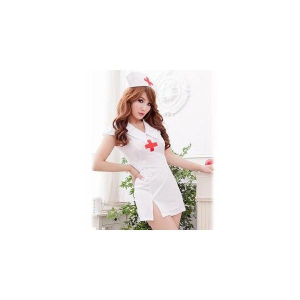 Nurse Party Costume ($39) ❤ liked on Polyvore featuring costumes, innerwear, women, womens costumes, womens snow white costume, party costumes, white costume and white party costumes