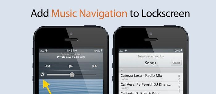 Pluck Cydia Tweak: Pick A Song Right from the Lockscreen