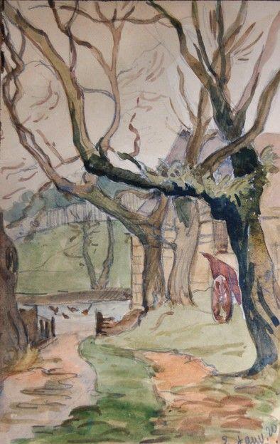 Marguerite Paulet 1900 1979 Quimperle Chemin D Hiver 1920