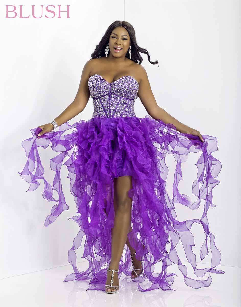 Blush W 9560W Plus Size Prom