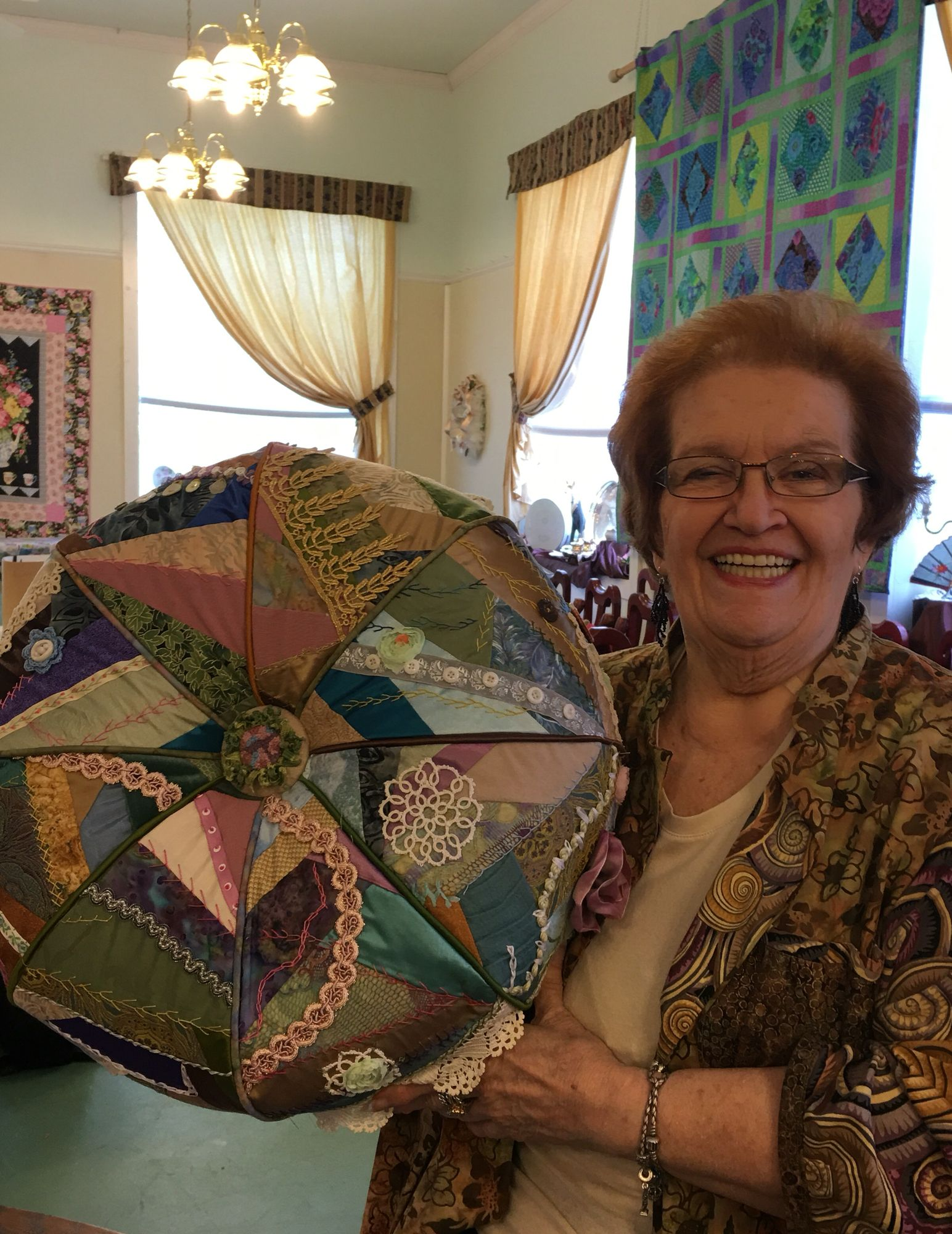 Crazy quilted tuffet class. Suwannee Valley Cross Stitch Sally ... : suwannee quilt shop - Adamdwight.com