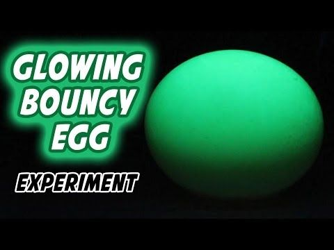 How To Make Glowing Bouncy Egg Youtube With Images Bouncy