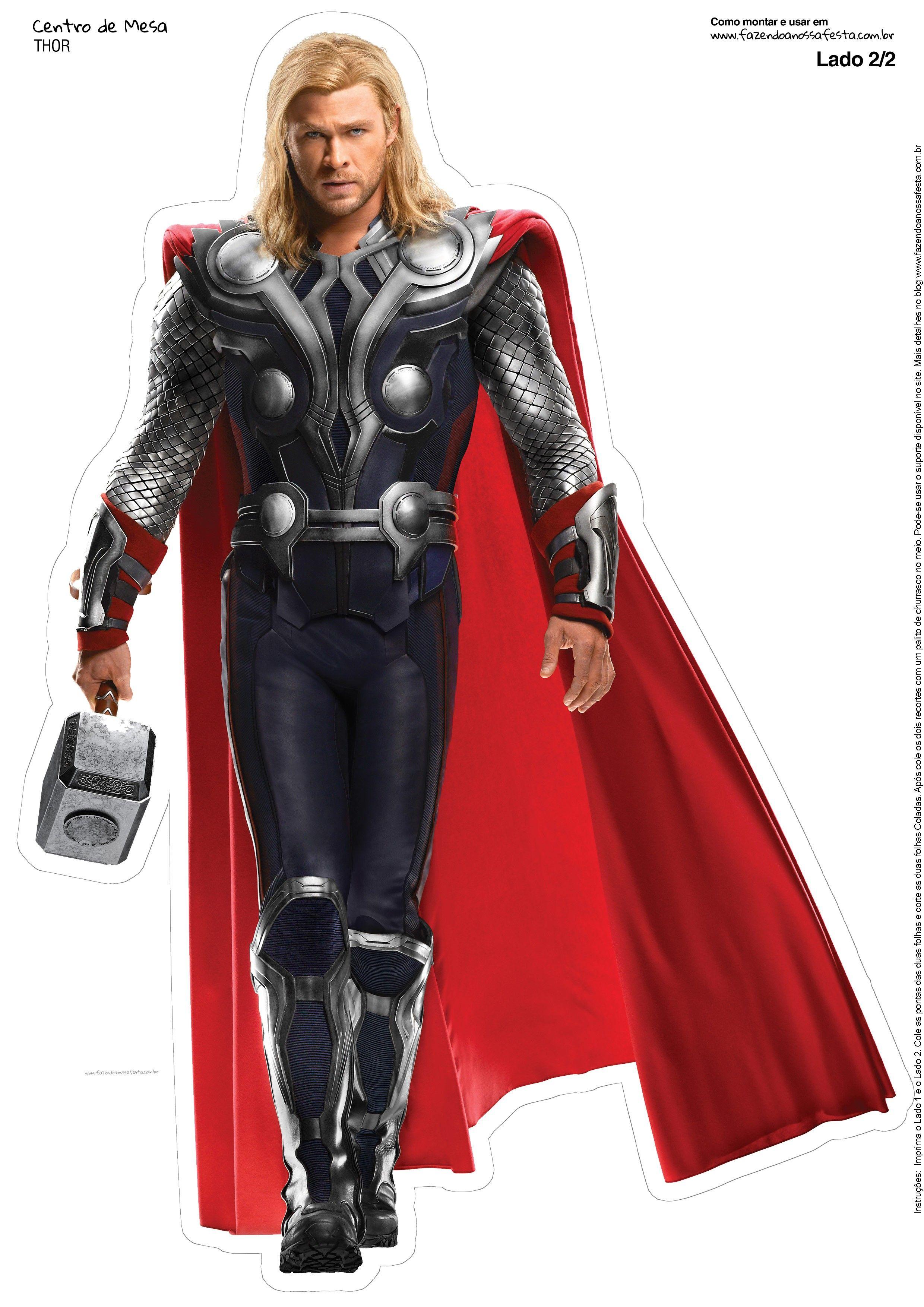 Centro de Mesa Vingadores Thor-2-1-2  f6adefd75