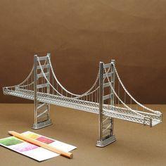 Golden Gate Bridge Wire Model #historyoftheworld