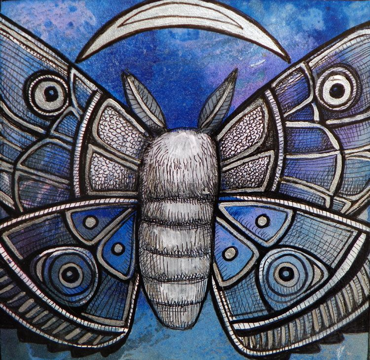 Mothflight Insect Art By Lynnette Shelley Moth Art Insect Art
