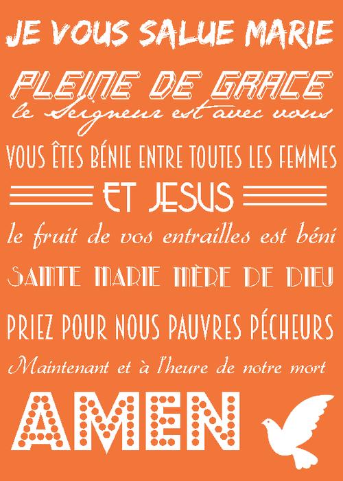 Populaire Poster personnalisé - Poster prière catholique - Prière Je vous  IP92