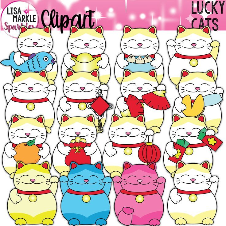 Chinese Lucky Cat Clipart, Cat Clipart, Japanese Lucky Cat