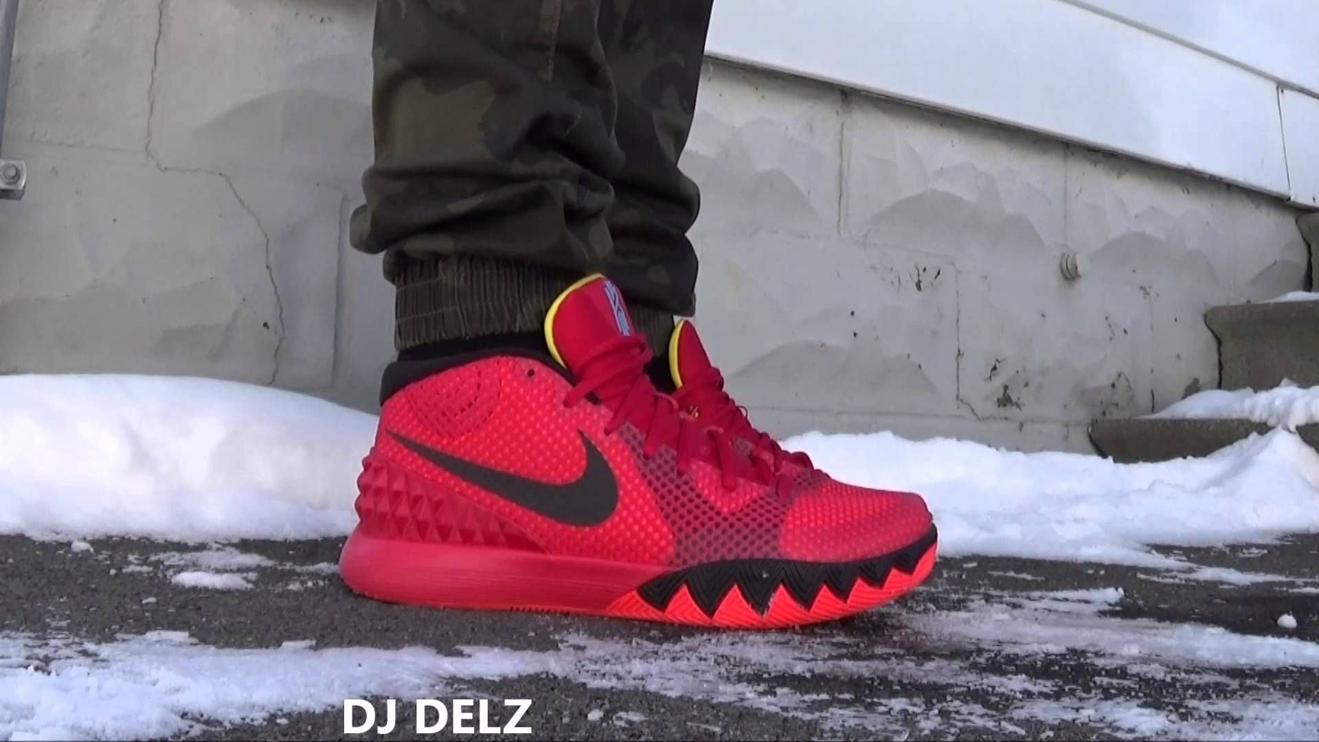 1410d070e0e2 Nike Kyrie Irving 1 Deceptive Red Sneaker On Foot