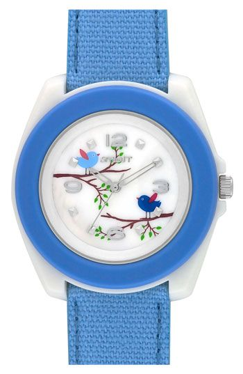 Sprout Watches Print Dial Cotton Strap Watch 44mm Cute Watches Watches Strap