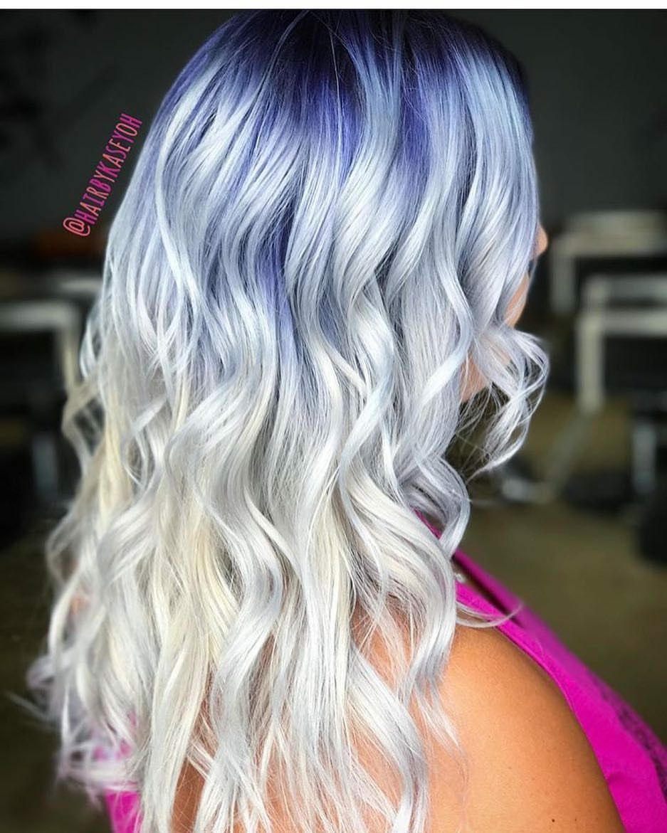 Ice blue ombre hair pinterest blue ombre and ombre