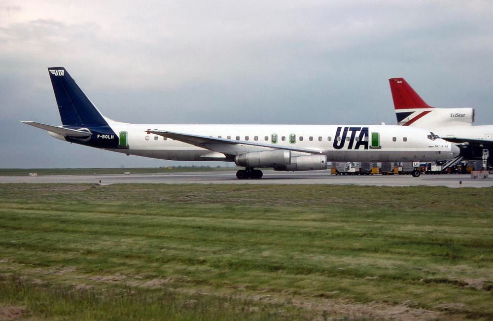 DC862 FBOLH Vintage airlines, Utas, Passenger jet
