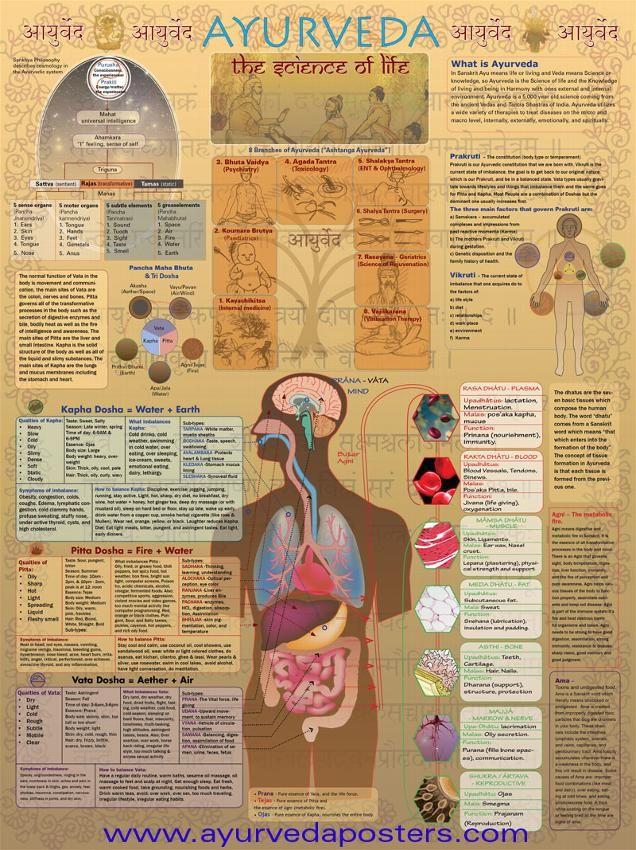 Sanskrit Of The Vedas Vs Modern Sanskrit: Ayurvedic, The Science Of Life Chart