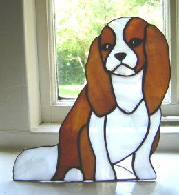 King Charles Spaniel Stained Glass Birds Stained Glass Faux