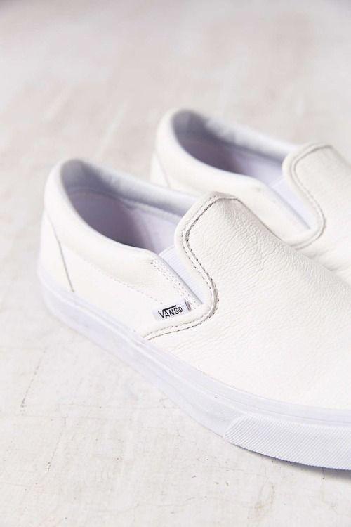 c75598c1ab4 urbnite  Vans Premium Leather Slip Ons