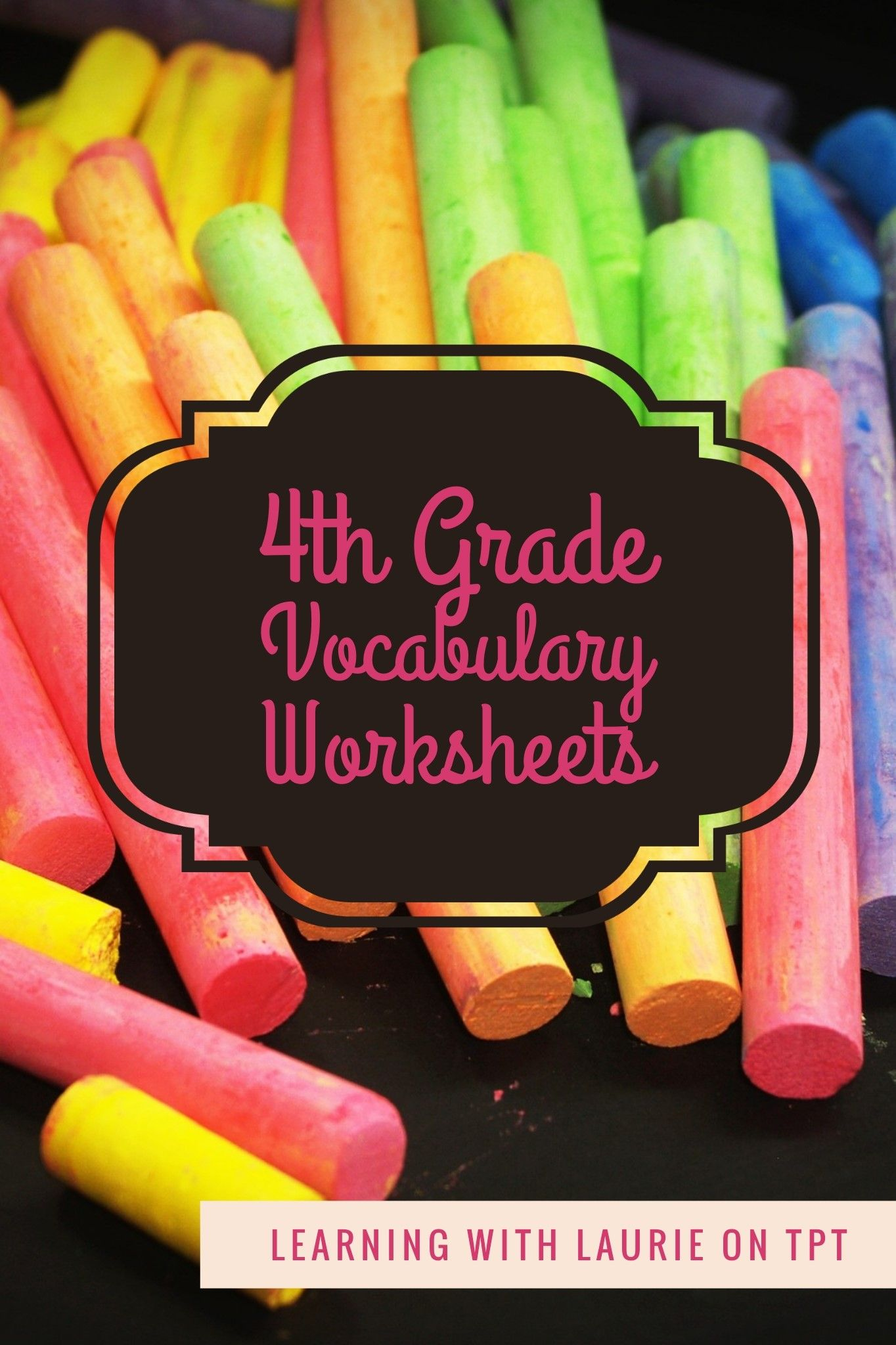 4th Grade Vocabulary Worksheets In