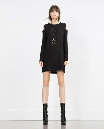 ZARA - WOMAN - CUT-OUT SHOULDER DRESS