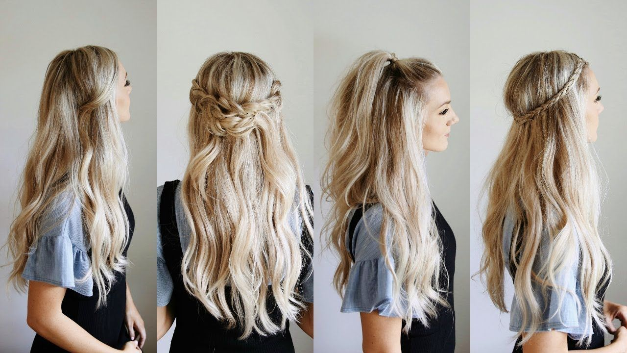 60 Cute Easy Half Up Half Down Hairstyles For Wedding Prom And Casual Events Easy Summer Hairstyles Hairstyle Hair Styles