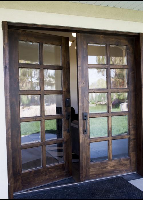 Krosswood Knotty Alder Ext 10 Lite With Low E Ig Double Doors Modern Entry Door Patio Style Doors