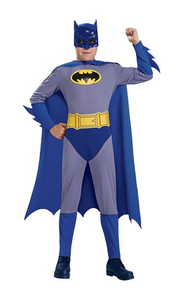Blue Batman Superhero Child Costume