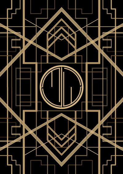 Great Gatsby Style Art Print Art Deco Wallpaper Art Deco