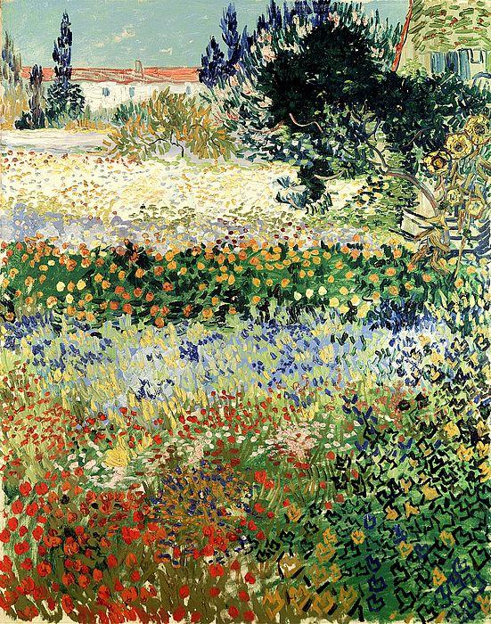 Garden In Bloom by Van Gogh