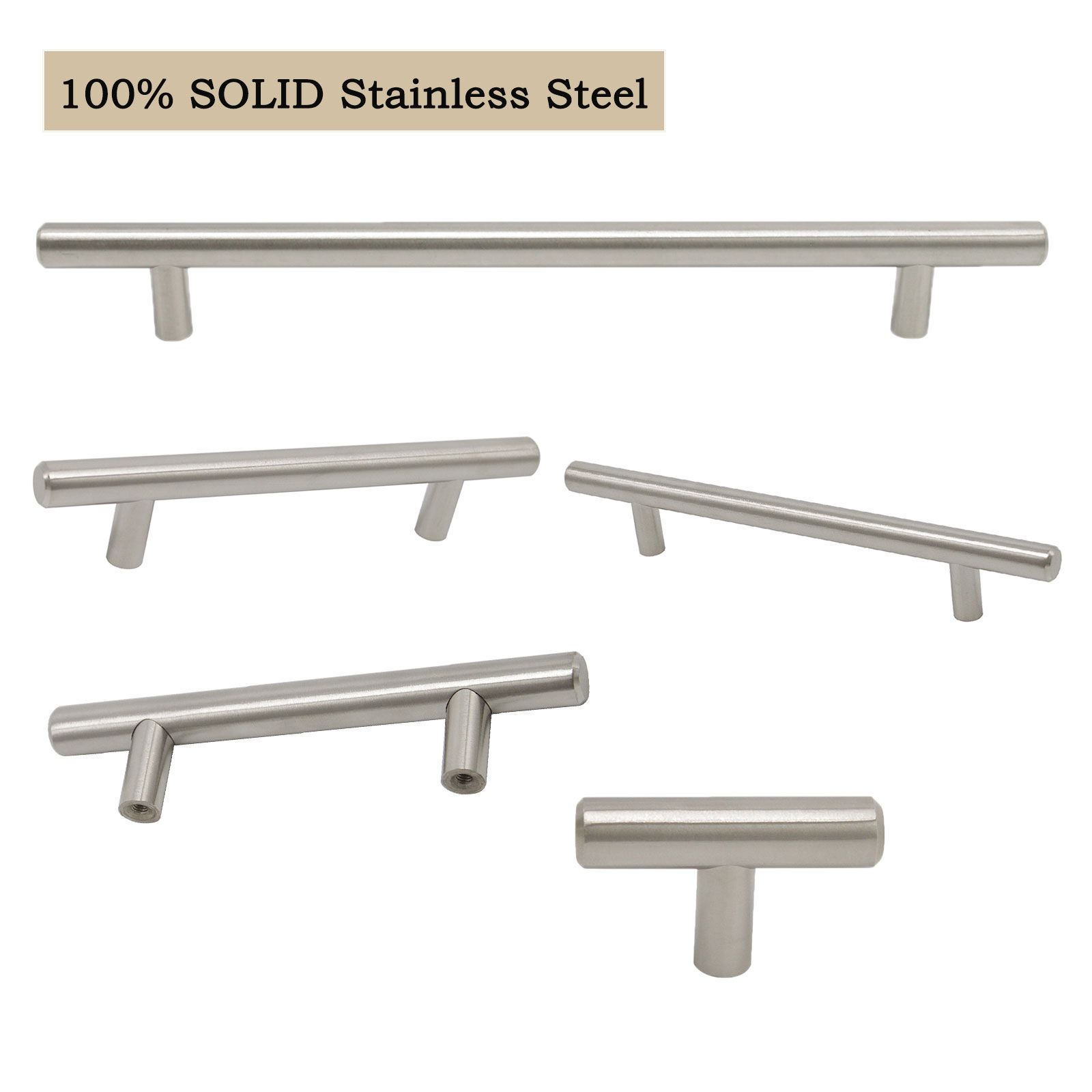 Solid Handles For Kitchen Cabinets 2 10 Hole Centers Drawer Pulls Pd201sss Kitchen Cabinet Handles Cabinet Handles Drawer Hardware