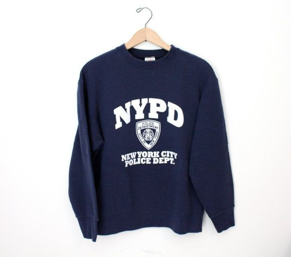 2bea78b70 NYPD Vintage Sweatshirt #mfjewels #etsy | The Police Test Physical ...