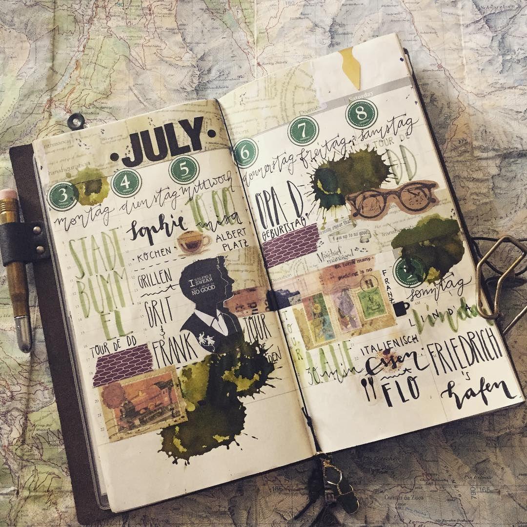 Reichlich Spat Aber Hier Das Weeklyspread Von Der Letzten Woche Im Tnolive Harrypotter Weeklydecoration Plann Travel Journal Pages Sketch Book Book Art