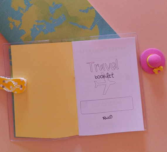 Travel planner booklet - Travel journal - Trip organizer - Vacation