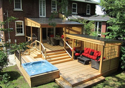 Pool patio ideas extend your patio on to your garden for Small deck seating ideas