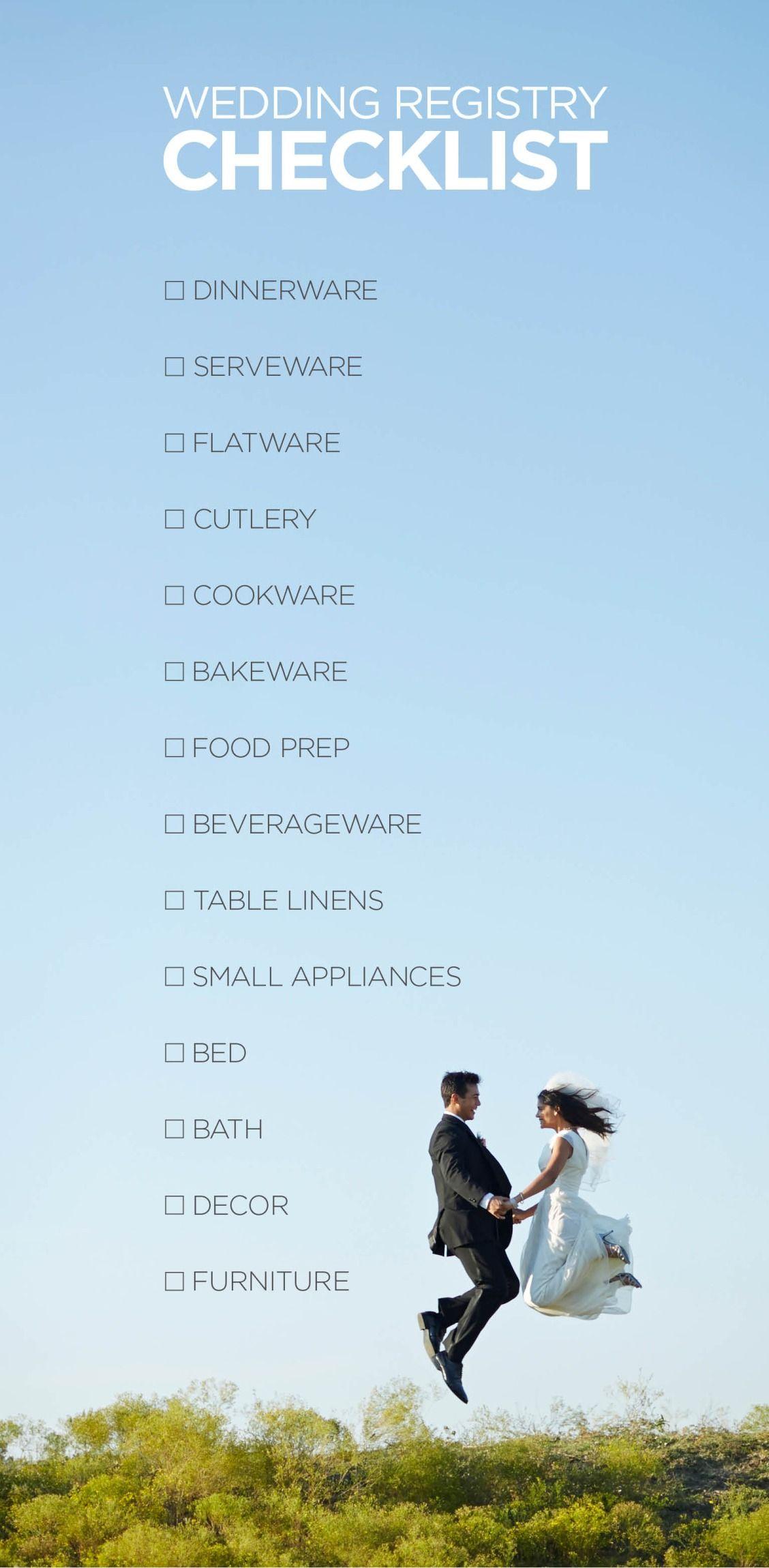 Creating a wedding registry that is organized, thorough