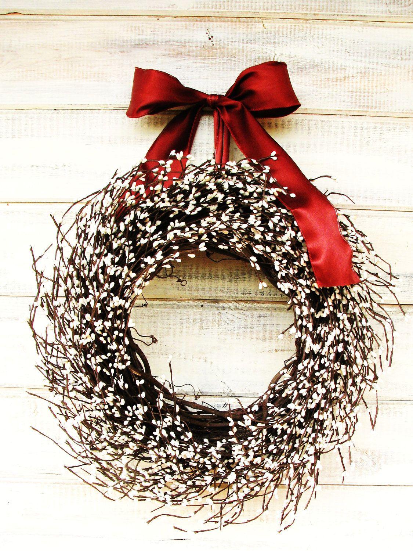 Farmhouse Wreath Summer Fall Wreath Winter Wedding Scented Wreath