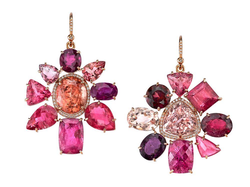 Irene Neuwirth Rose Gold Tourmaline And Diamond Earrings