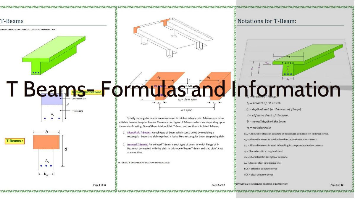 T Beams Infos About Use Calculations And Formulas Trough Beam Diagram Construction Architecture Admirers