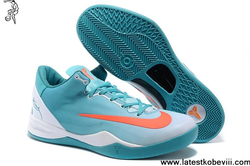 Sale Cheap Kobe 8 System MC Mambacurial FB Calypso Blue White Siren Red  Basketball Shoes Shop