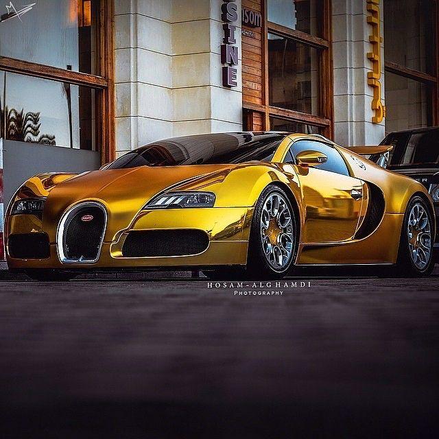 Golden Bugatti Super Cars Pinterest Cars Bugatti Veyron And