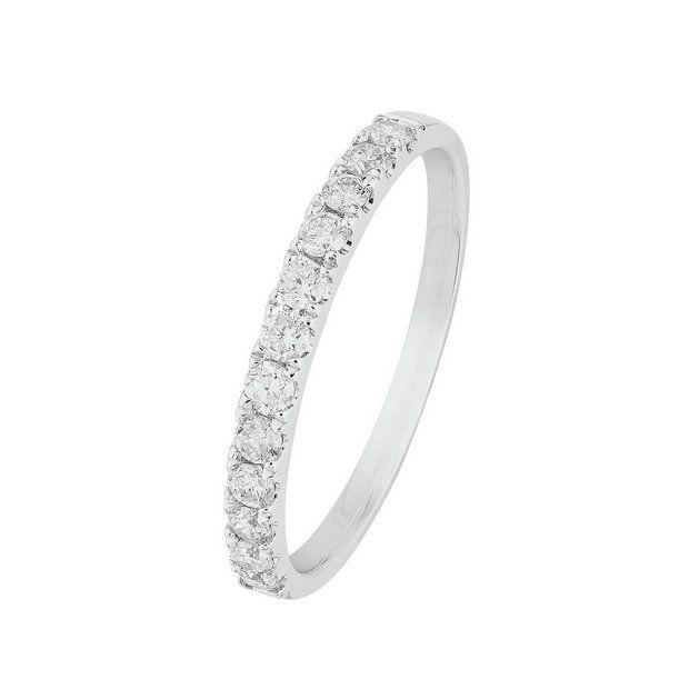Buy Revere 9ct White Gold 0 33ct tw Diamond Eternity Ring at Argos