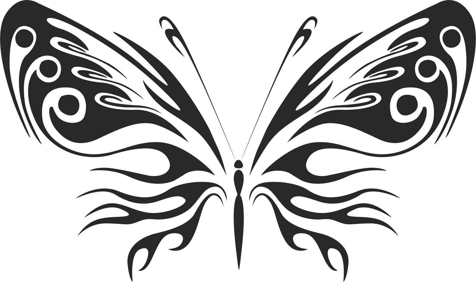 3d butterfly wall sticker black Free Vector Coreldraw cdr