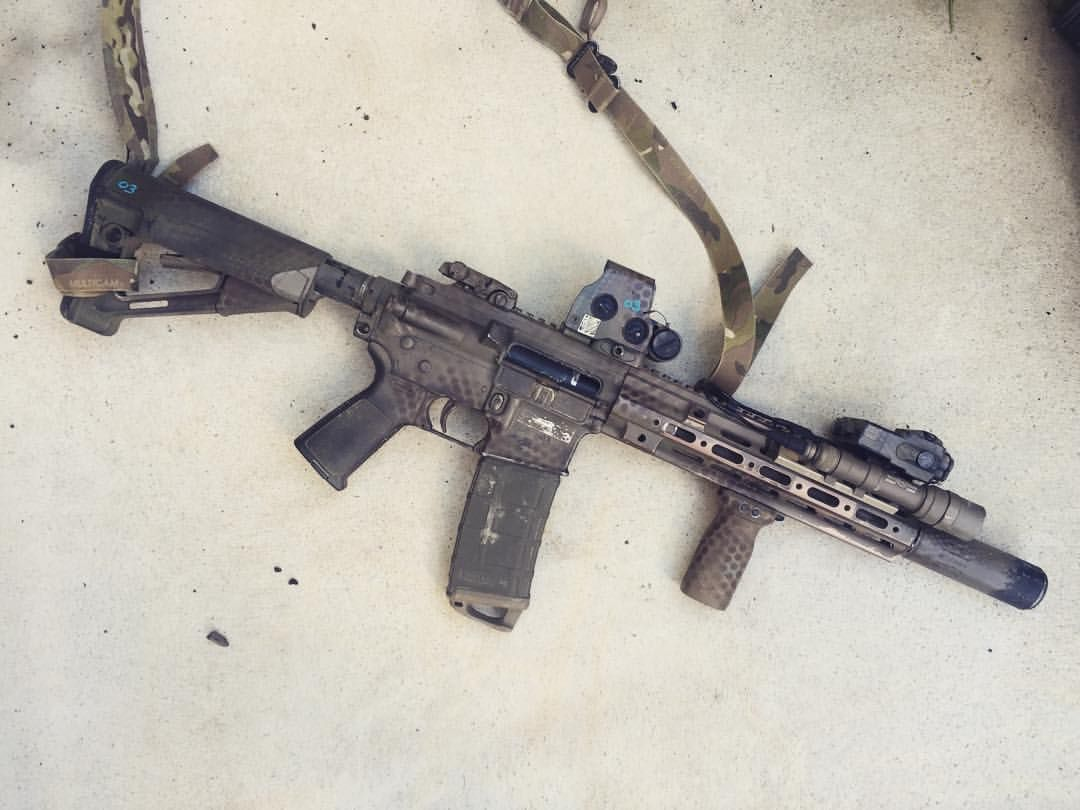 CQB PTW Systema HK416 #systema #ptw #blaster #whip #eotech #surefire