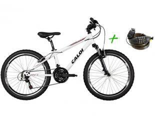 Bicicleta Caloi Wild Mountain Bike Aro 24 - 21 Marchas Quadro Alumínio+ Cadeado com Segredo