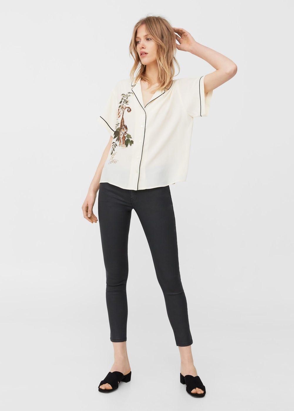 Waxed skinny belle jeans - Women  c2467e69c30